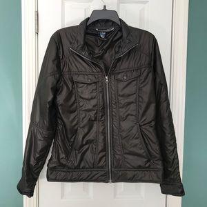 """KUHL """"Revolt"""" Puffer Jacket Coat Black/Brown"""